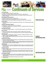 Continuum Of Services 2020